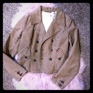💕super cute comfy and warm tan corduroy jacket